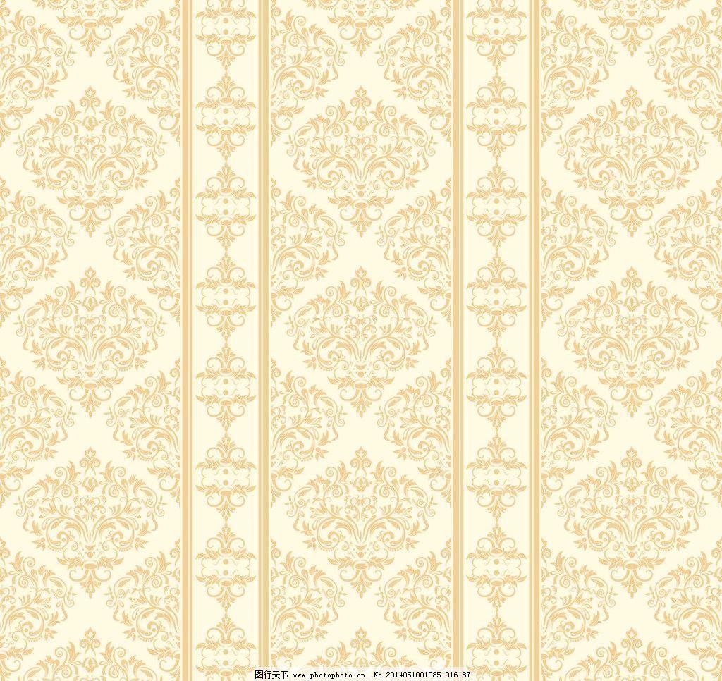黄色背景 黄色底纹 壁纸 欧式 经典花纹 墙纸 花纹背景 欧式壁纸 欧式