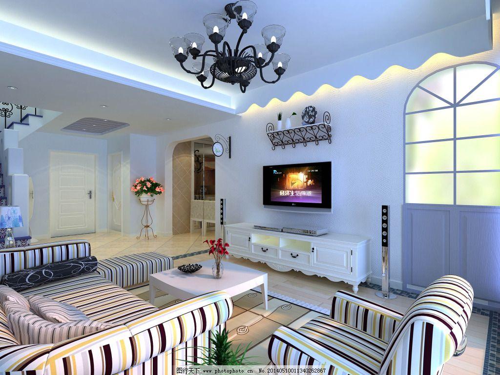 地中海风情 地中海风情免费下载 沙发 室内 装修 家居装饰素材图片