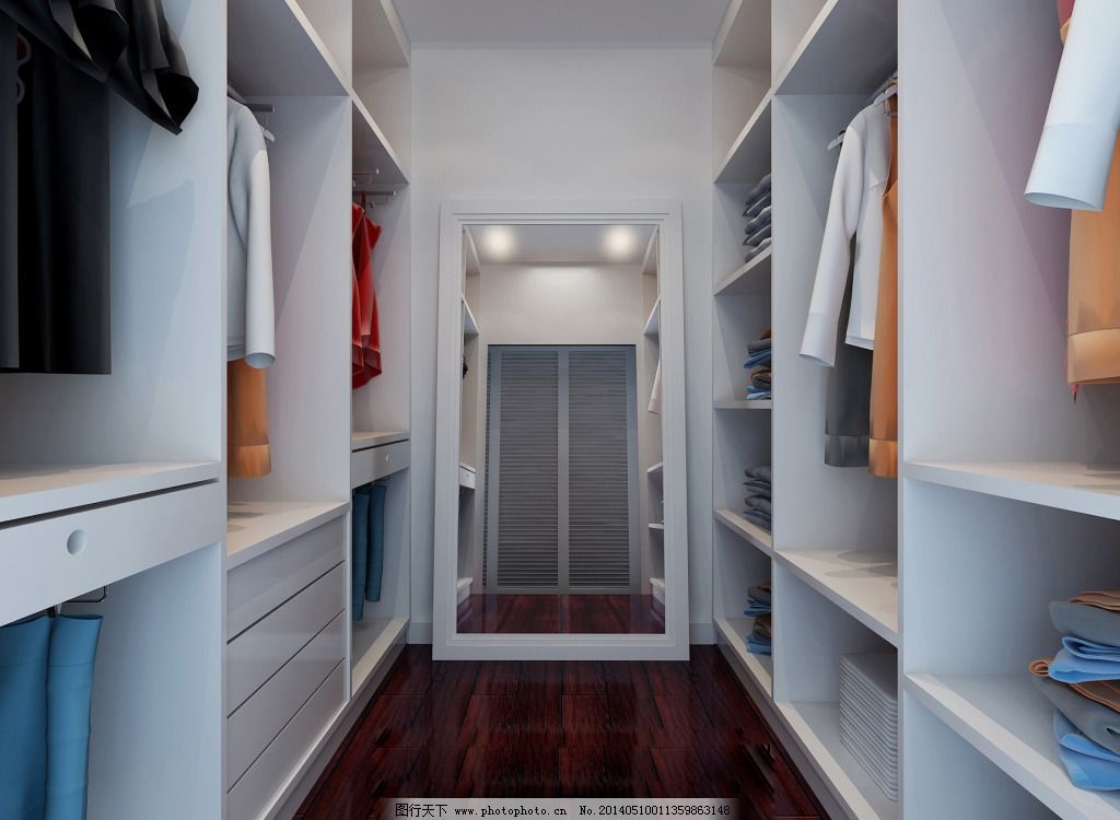 衣帽间免费下载 室内 衣服 衣柜 装修 室内 装修 衣服 衣柜 家居装饰