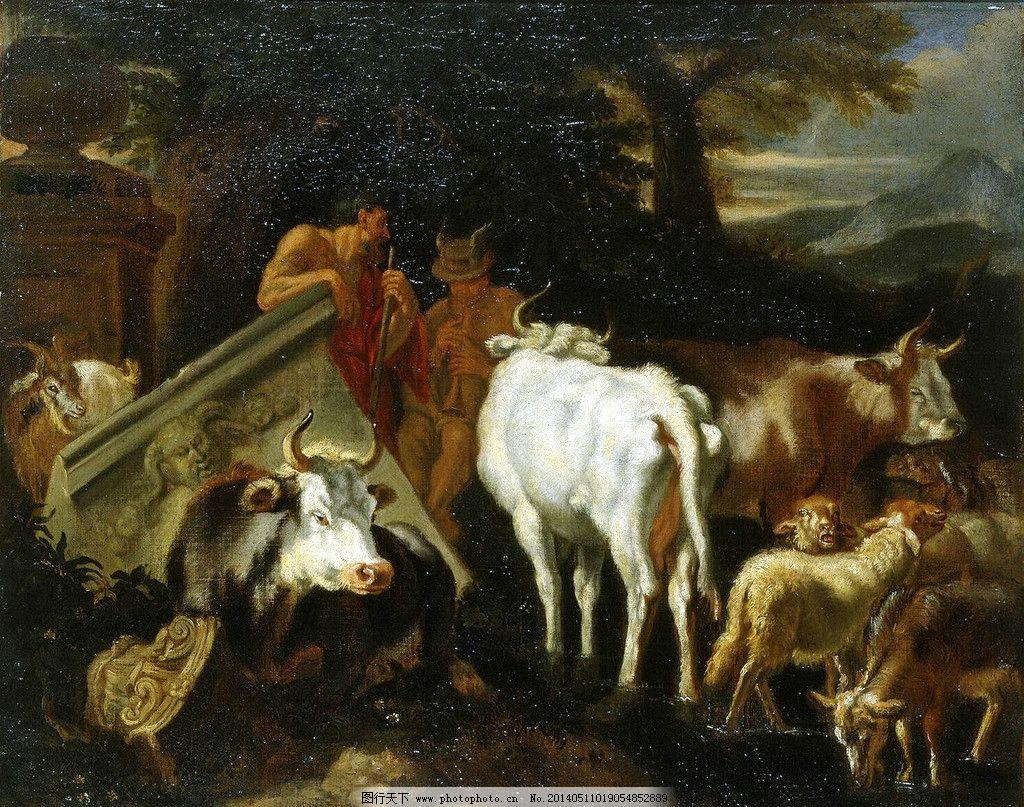 古典动物油画图片