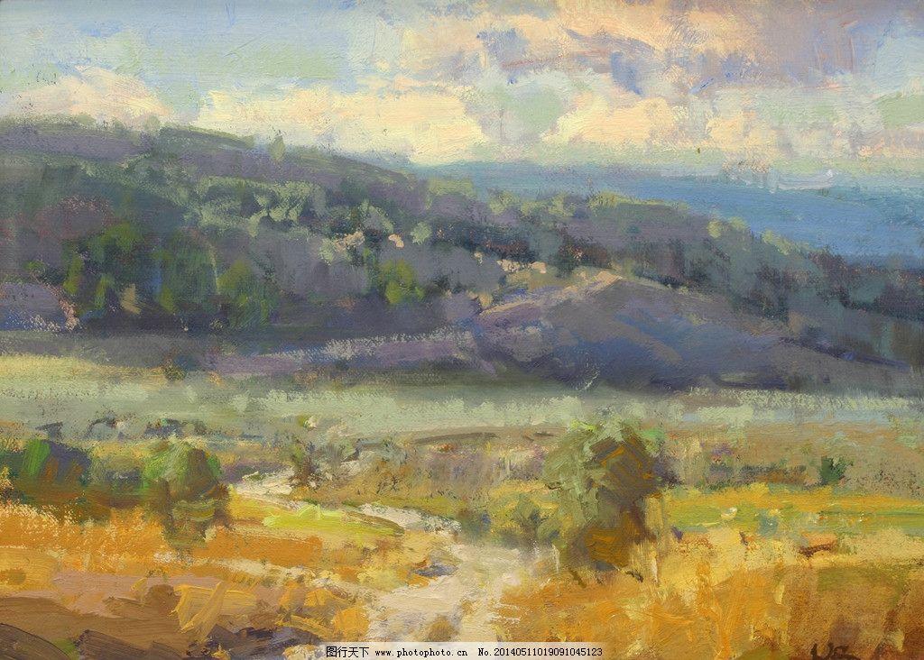 道路油画 风景油画 写生 外国油画 绘画