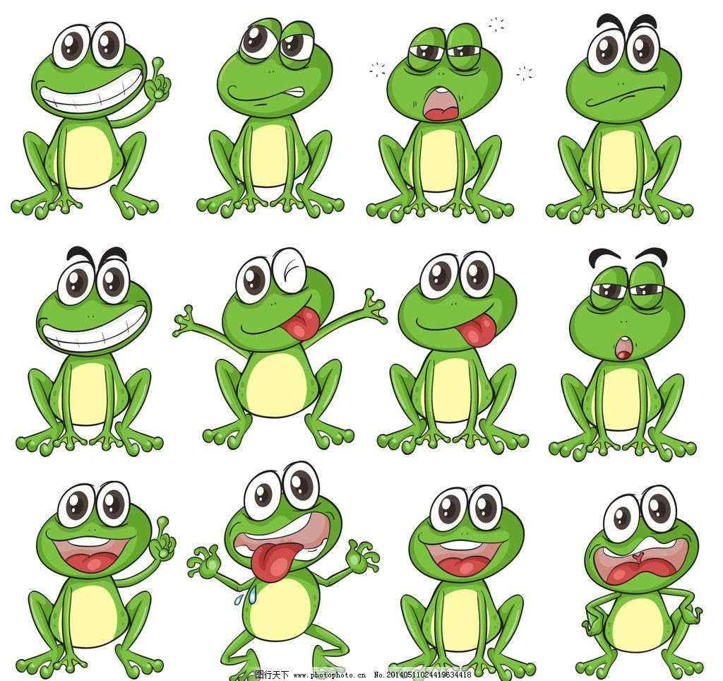 卡通青蛙图片