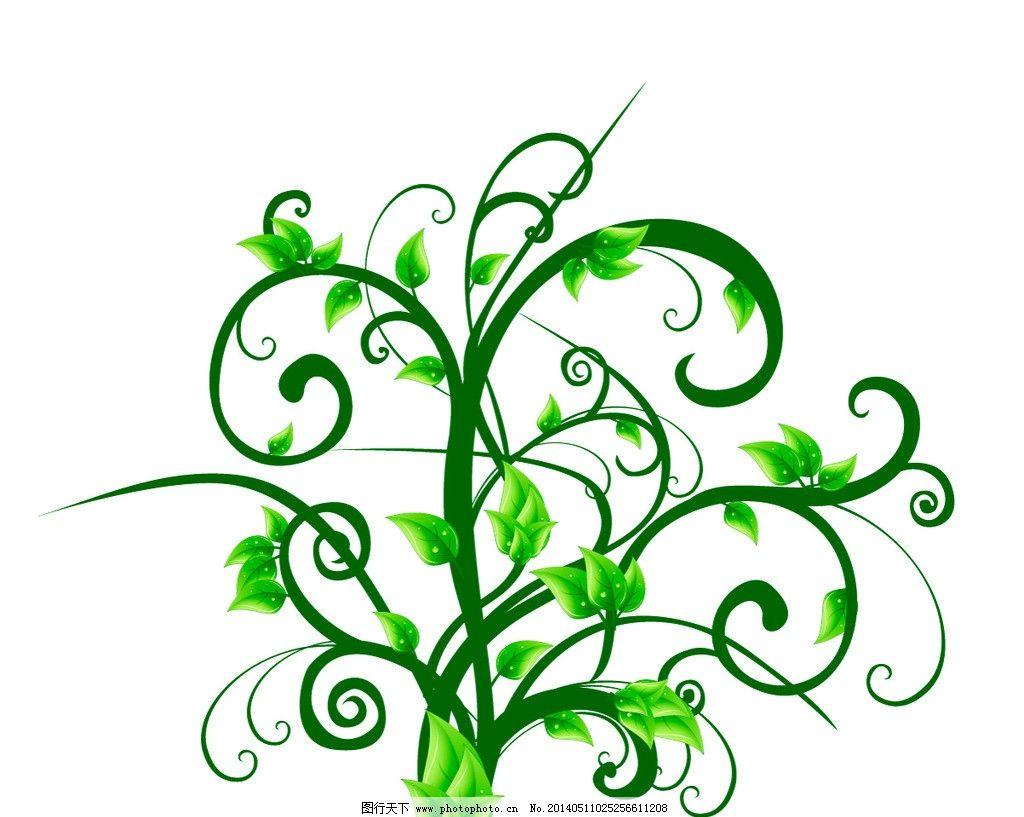 花藤 绿色植物 花纹 藤蔓 叶子 花卉 花朵 花草 植物花纹 图案图片