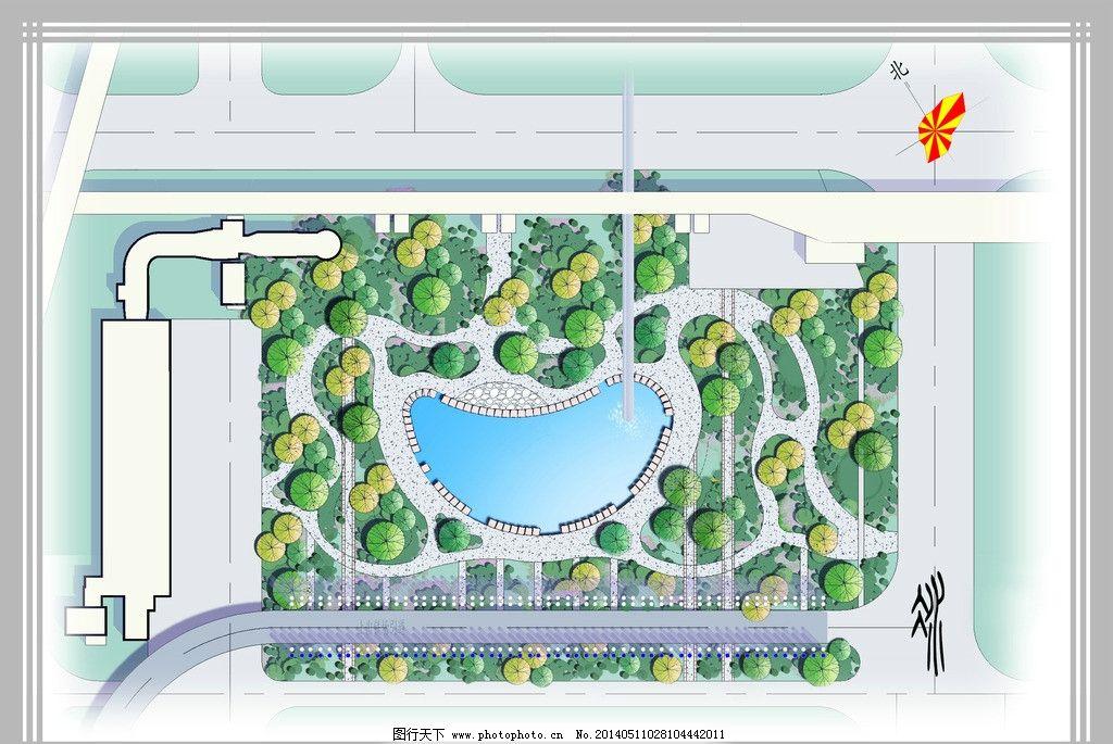 小游园 景观 绿化 植物 设计 景观设计 环境设计 150dpi jpg