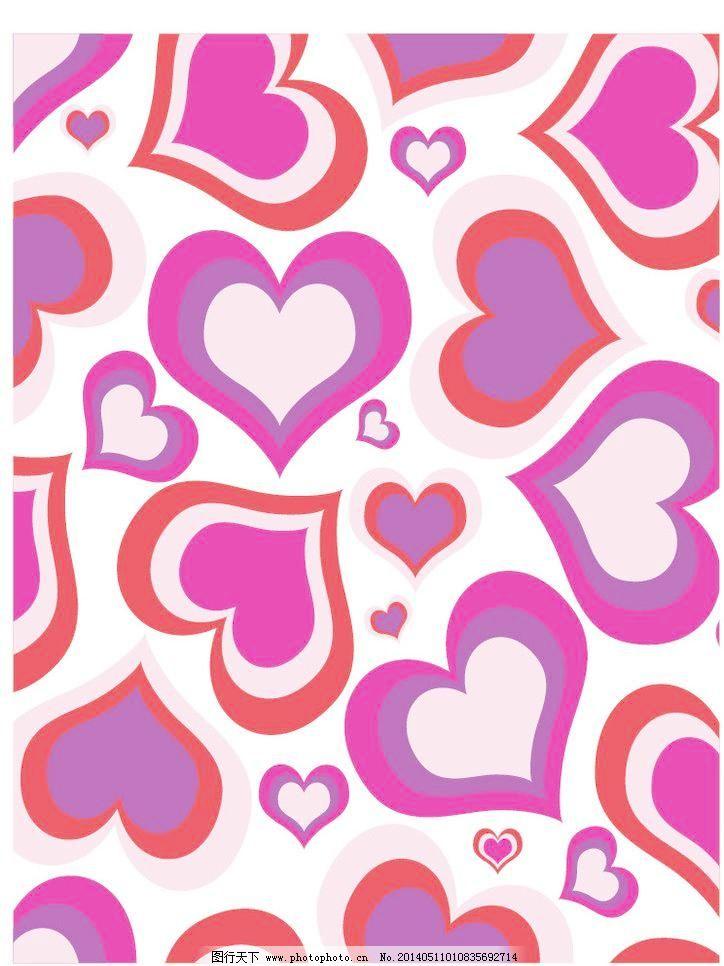 底纹背景 底纹边框 红心 花布 花纹 花纹花边 简洁图案 欧式花边 心形