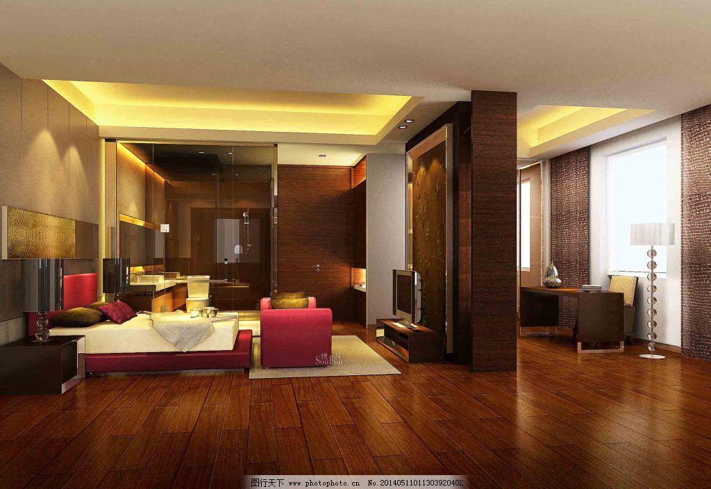 卧室客厅一体设计免费下载