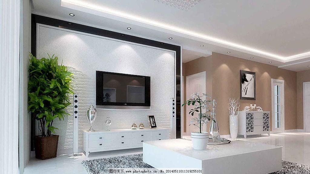 黑白电视背景墙_室内设计