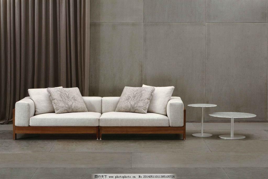 白色皮沙发