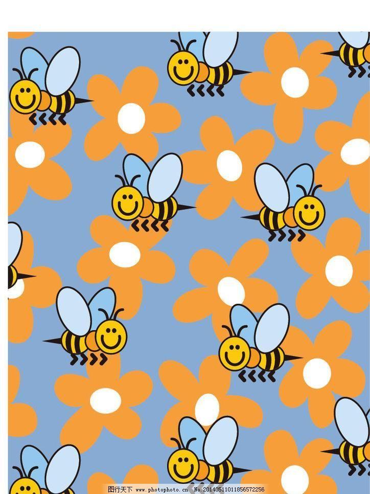 ai 布纹 底纹背景 底纹边框 花布 花朵 花纹花边 简洁图案 蜜蜂 欧式