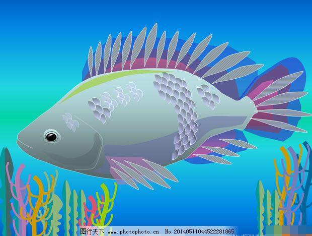 海底世界ppt动态模板