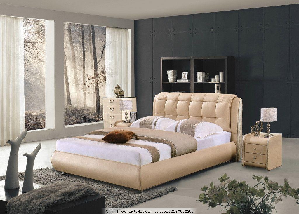 软床背景 软床 床 背景 床头柜 床修图 psd 床psd 室内设计 环境设计图片