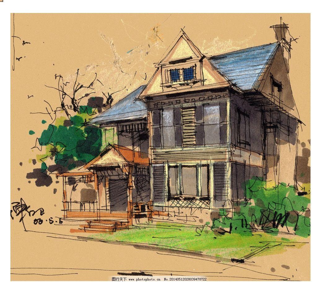 建筑 外观 手绘图图片_建筑设计_环境设计_图行天下