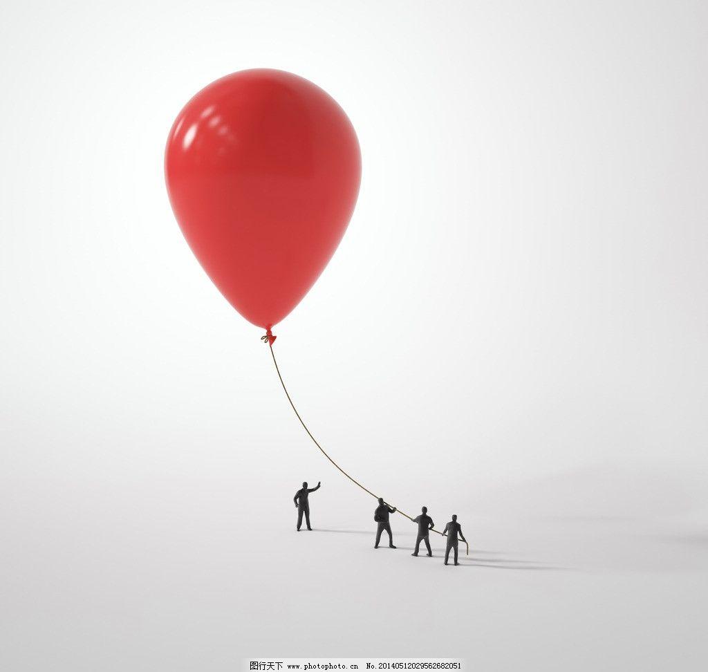 气球 任务 人物 红气球 创意 合作