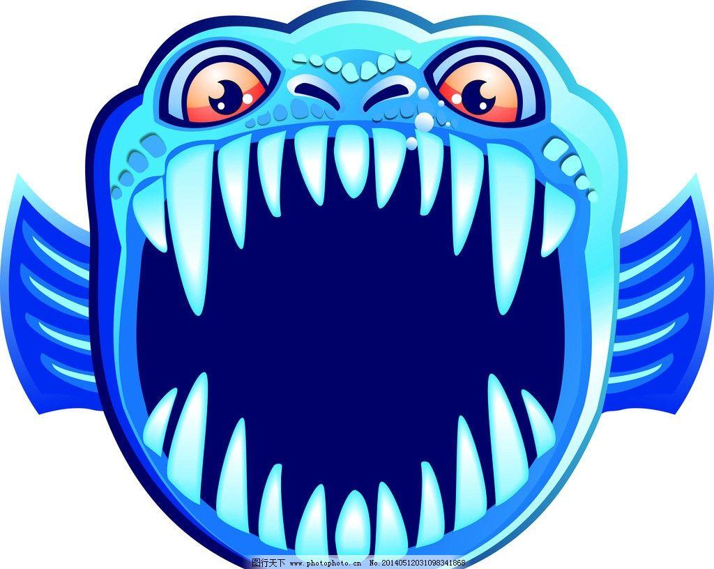 鲨鱼 卡通动物 海底世界 海洋动物 儿童插图 其他设计 广告设计
