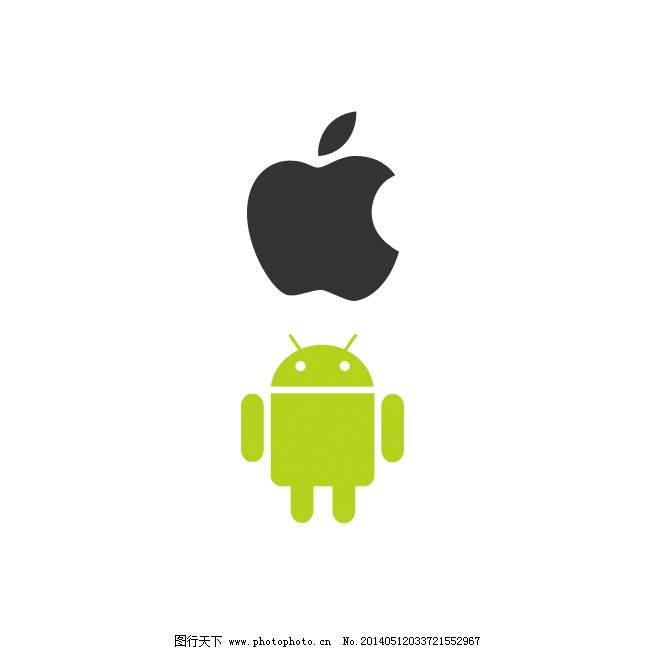 苹果logo 安卓logo