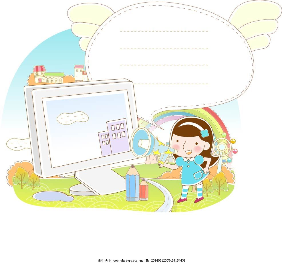 翅膀 孩子 卡通 可爱 信纸 卡通 信纸 翅膀 孩子 可爱 矢量图 矢量