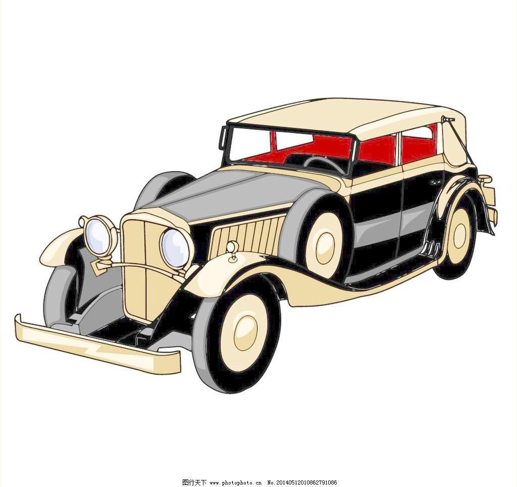 eps 古典 怀旧 交通工具 老爷车 汽车 手绘 现代科技 小汽车 老式汽车