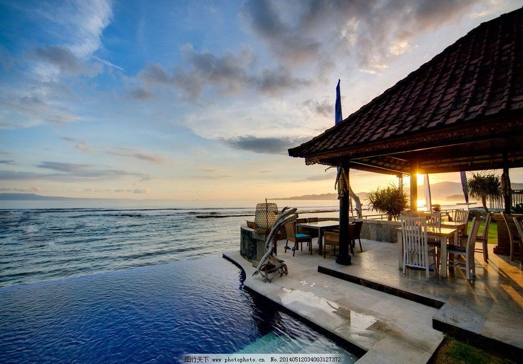 海边度假村 大海 度假 度假村 沙滩 小岛 巴厘岛 海滩 木屋 旅游 度假