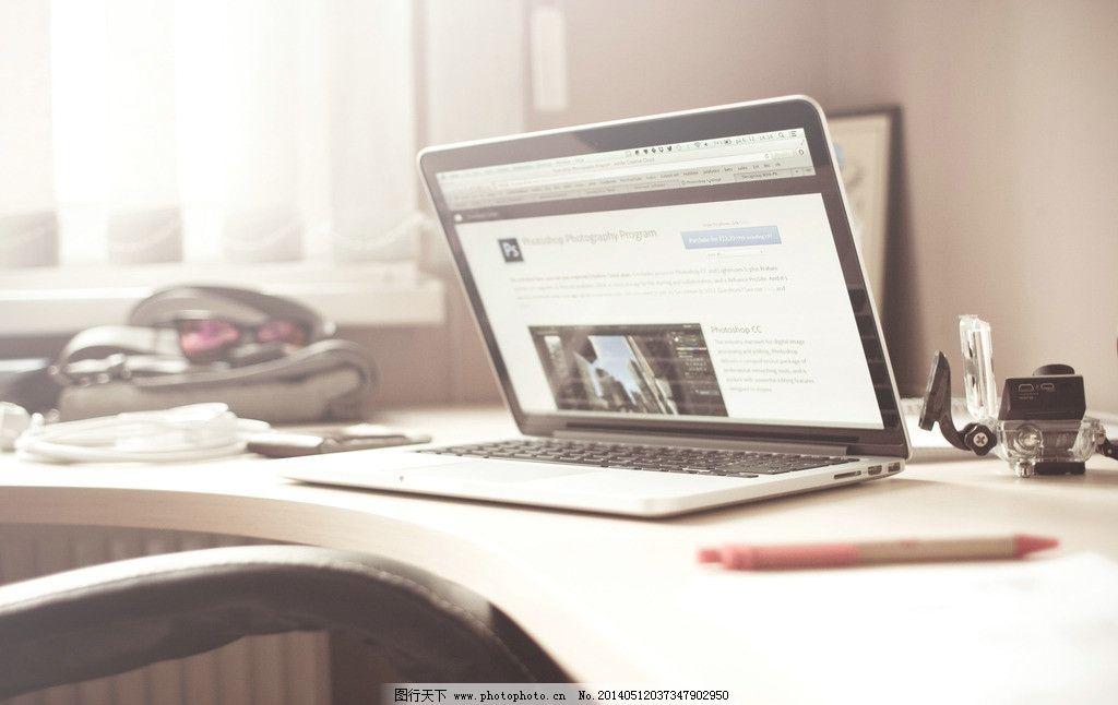 书桌一景 学习 办公 电脑 笔记本 文艺 美图 高雅 壁纸 家居生活图片