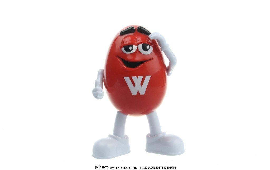 红色巧克力音箱白底图 巧克力豆 可爱 逗人 红色 卡通 模型 小劲霸