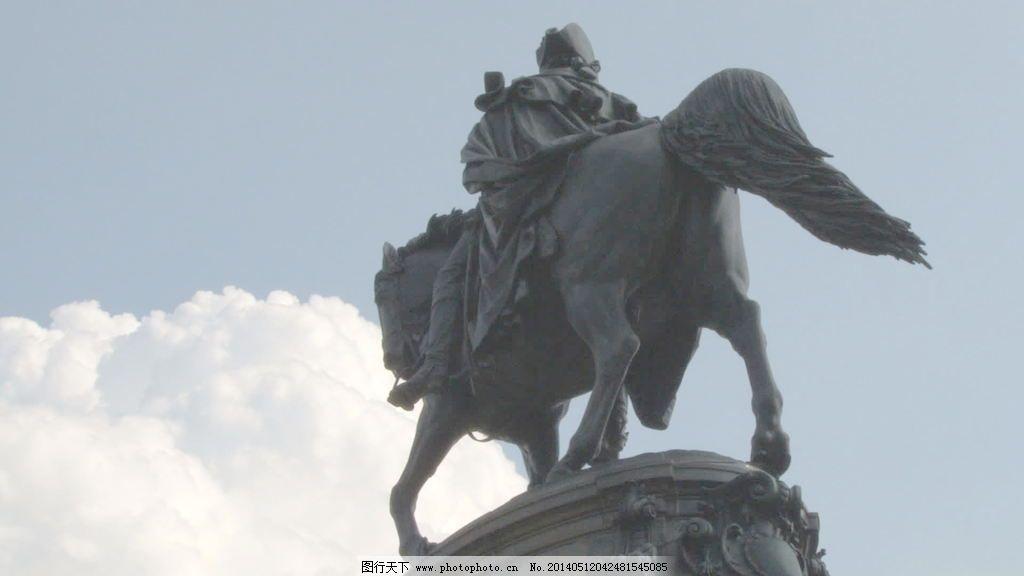 视频 乔治/乔治华盛顿纪念碑雕像股票视频