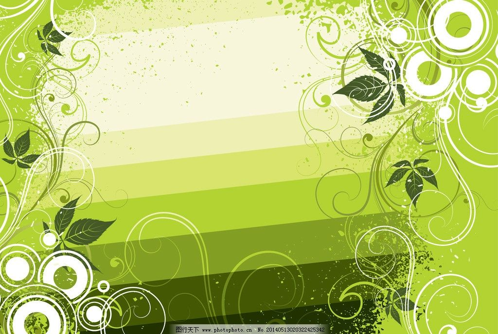 植物花纹 花边 古典花纹 绿色 欧式花边 藤蔓 花藤 装饰花纹