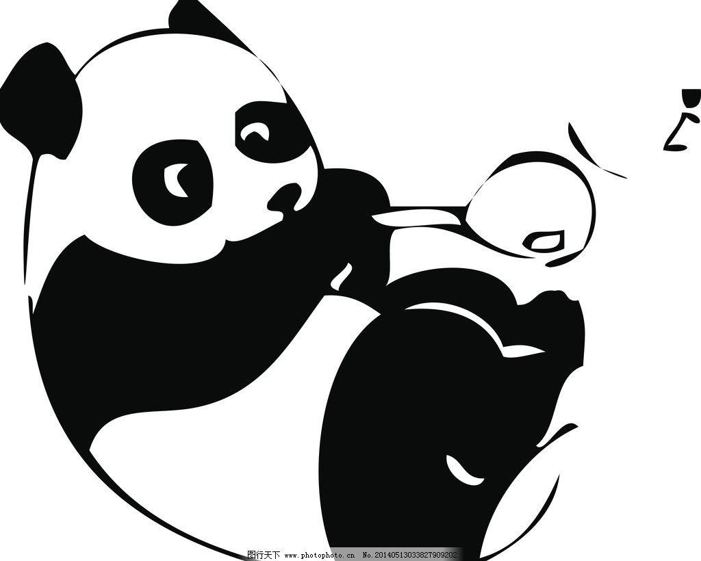 熊猫矢量图 卡通熊猫 大熊猫 矢量素材 其他矢量 矢量 cdr
