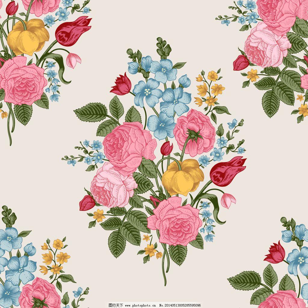 复古玫瑰 复古玫瑰免费下载 背景图 花纹 玫瑰花 矢量图 花纹花边
