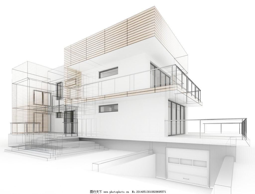 手绘建筑图片