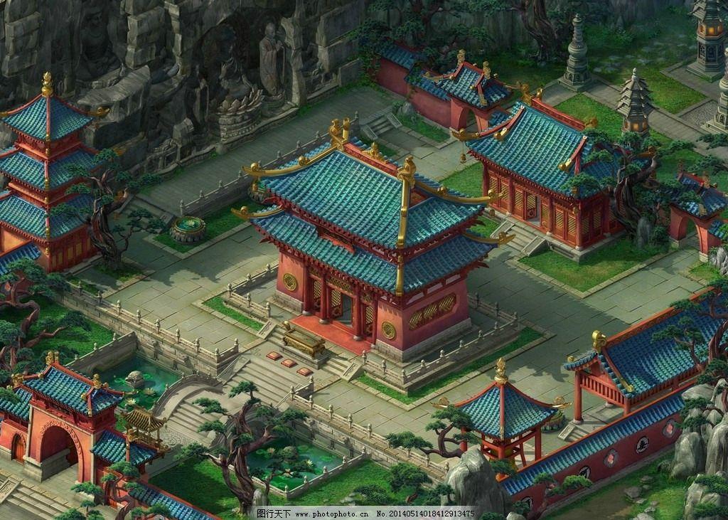 游戏场景古代主城图片