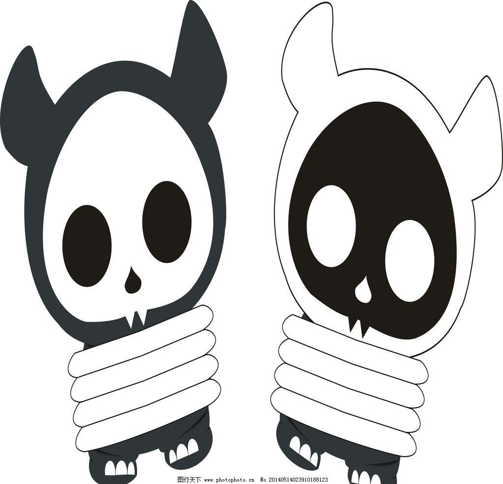 魔鬼 动画 绑架 卡通 安全 黑白配 其他人物 矢量人物 矢量 cdr