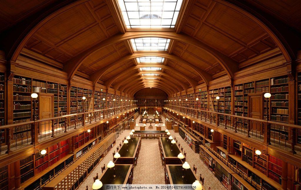 图书馆 金色大厅 设计图 欧式建筑 灯光