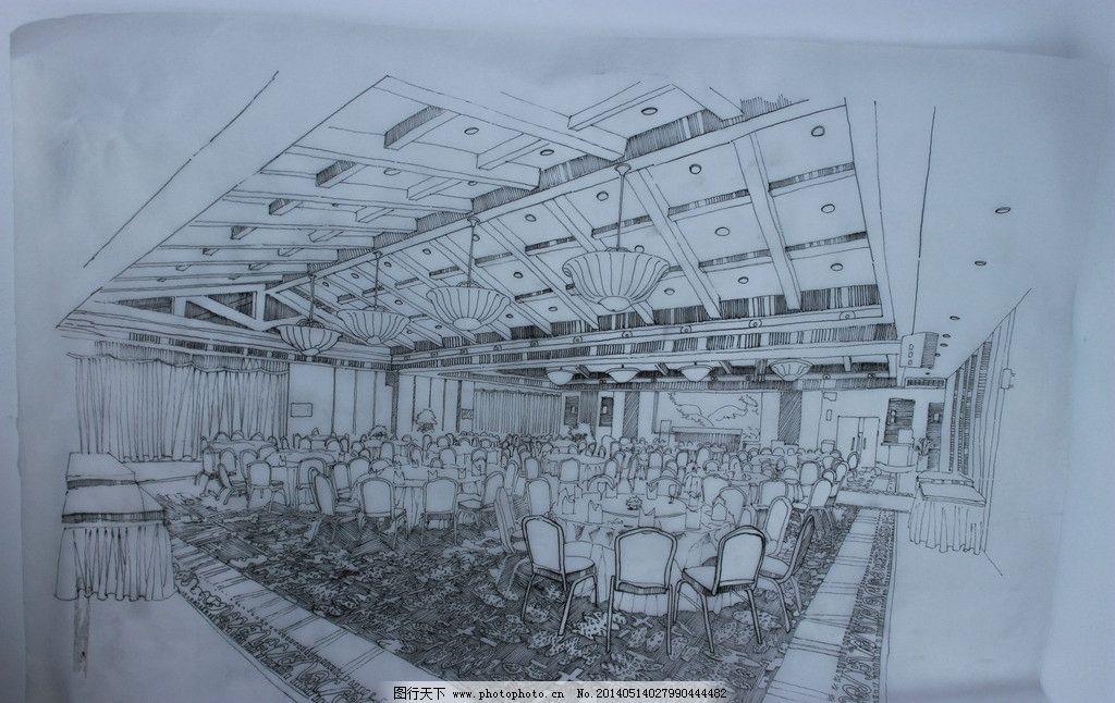 宴会厅 手绘 娱乐 休闲 中式 室内设计 环境设计 设计 72dpi jpg