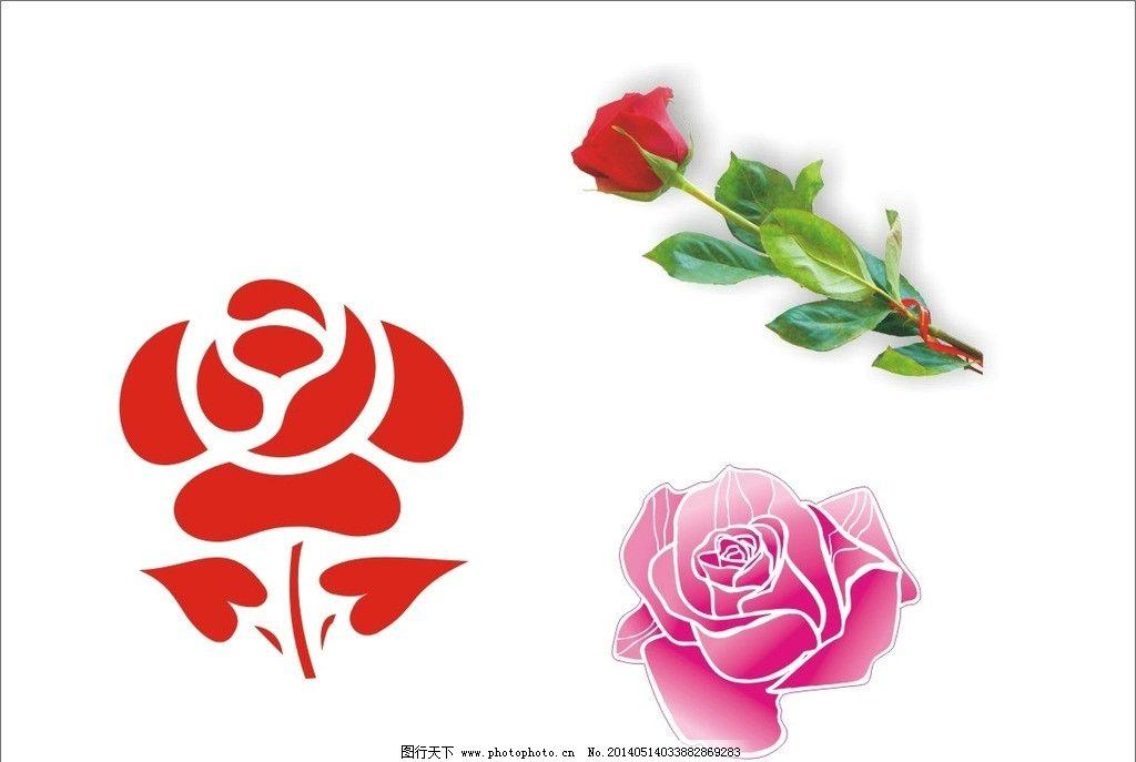 花瓣 玫瑰花 花束 矢量图 花 矢量素材 其他矢量 矢量 cdr