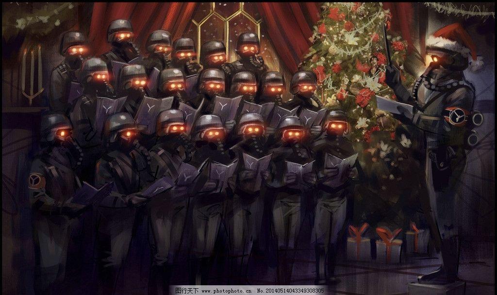 合唱团 圣诞节 面具 演奏 士兵 防化服 怪诞 动漫 其他 动漫动画