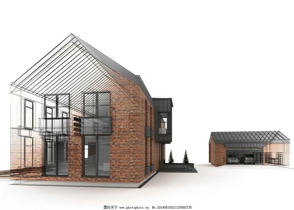 模型照片结合手绘 建筑