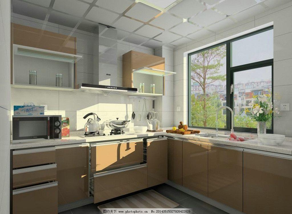 橱柜效果图 厨房装修 现代橱柜 实木橱柜