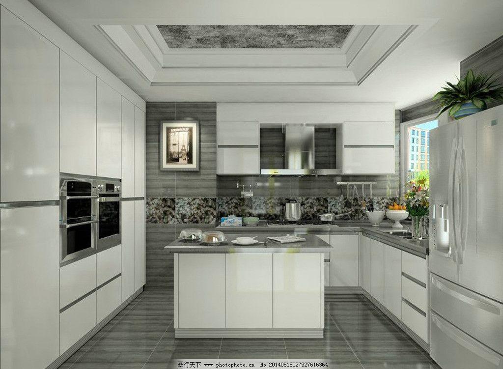 橱柜效果图 厨房装修 橱柜 现代橱柜 实木橱柜 室内设计 环境设计
