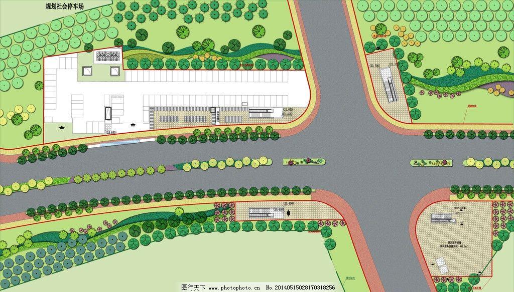道路地铁口周边绿化 道路 平面图 绿化 地铁口 道路景观 景观设计