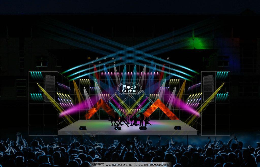 舞台灯光效果图图片_其他_环境设计_图行天下图库