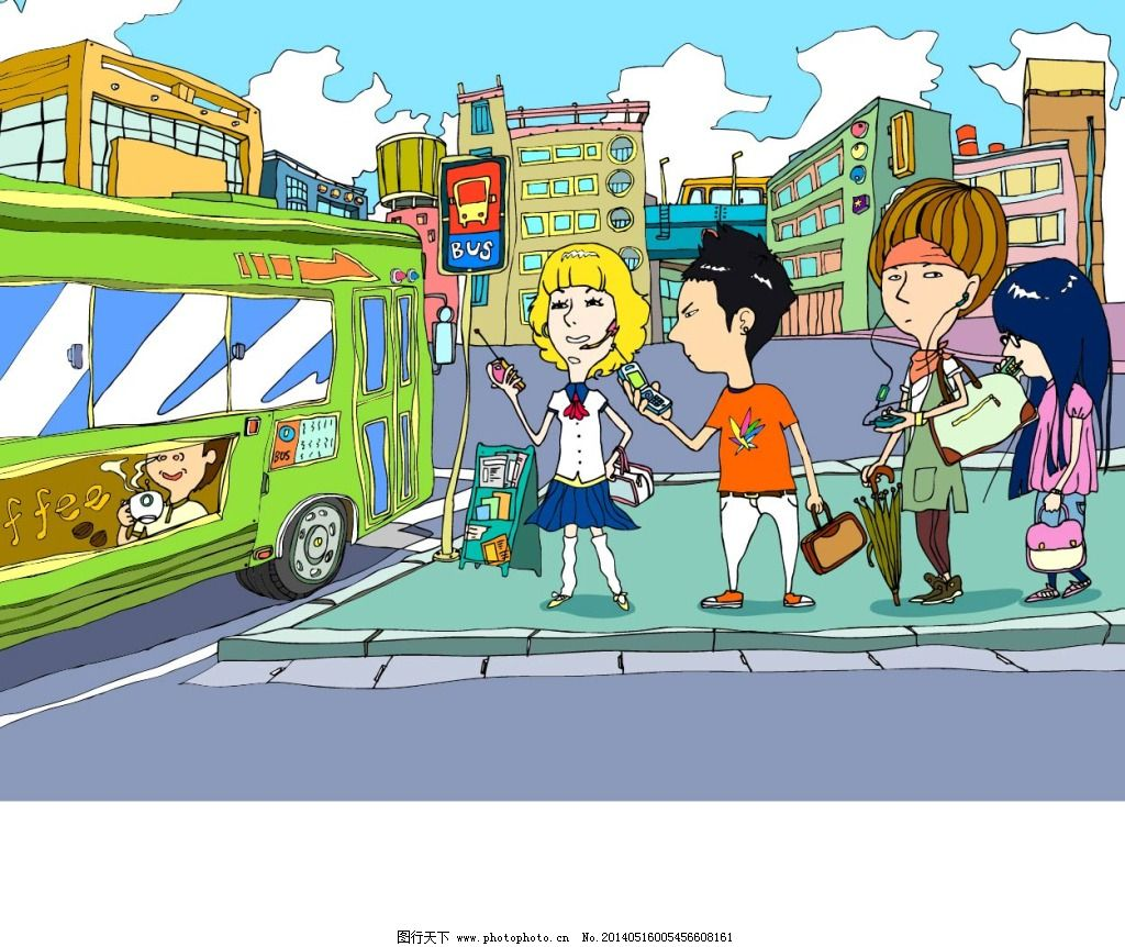 等公车的人群