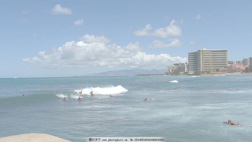 录像 视频/威基基的冲浪者3股票的录像视频免费下载