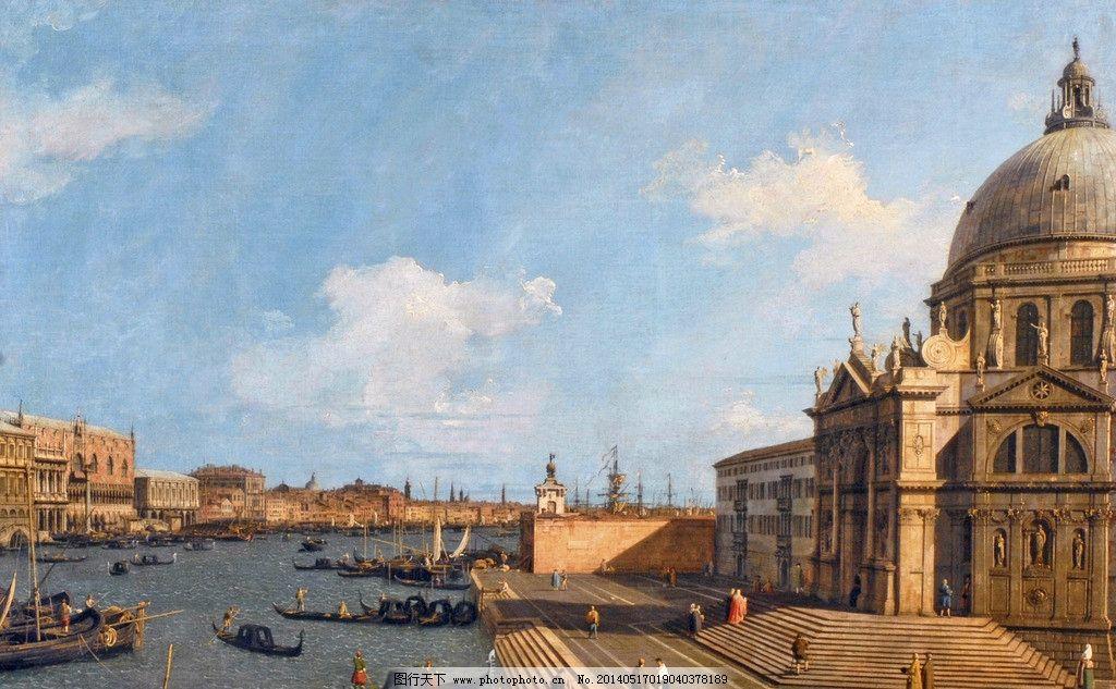 古典建筑风景油画 古典 艺术 风景 油画 欧式建筑 欧式古典艺术 绘画图片