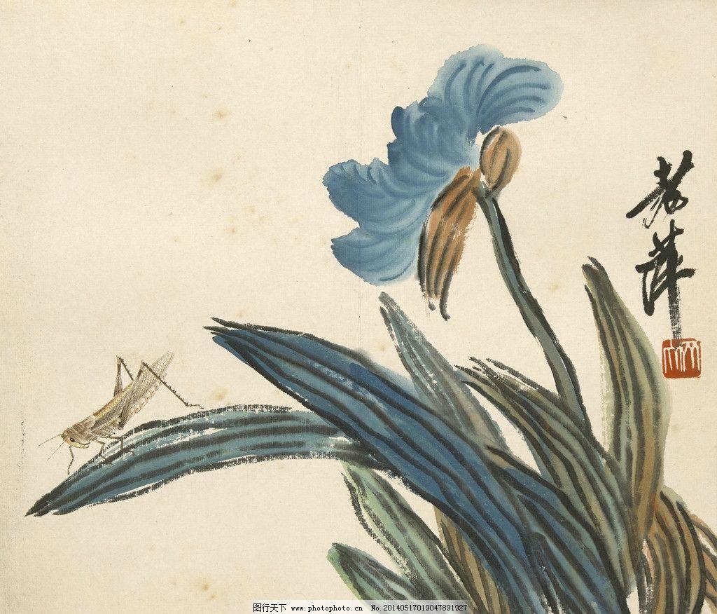 手绘画超写实叶子花