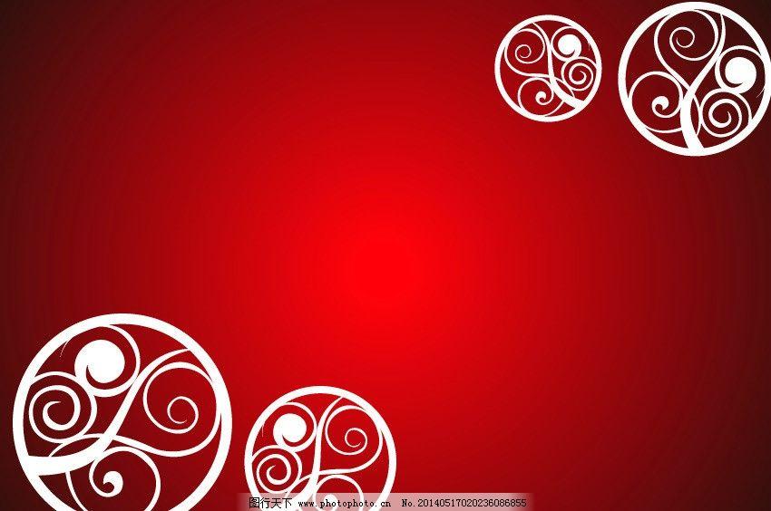 花纹 红色花纹背景图片