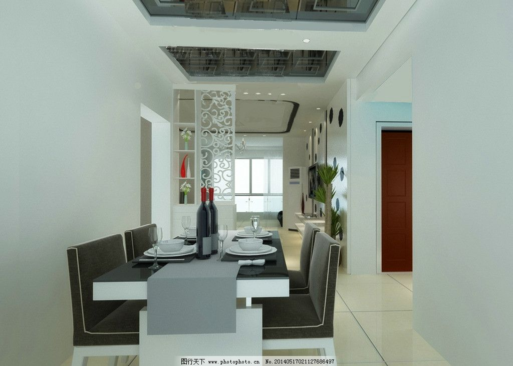 室内设计 餐桌      装潢 设计 餐具 装潢设计 餐厅设计 3d设计 72dpi