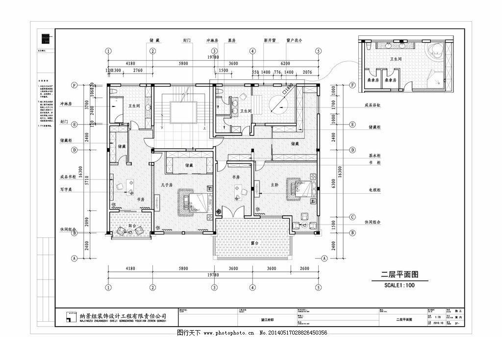 别墅施工图        室内设计 装潢 dwg文件 室内施工图 施工图纸 cad