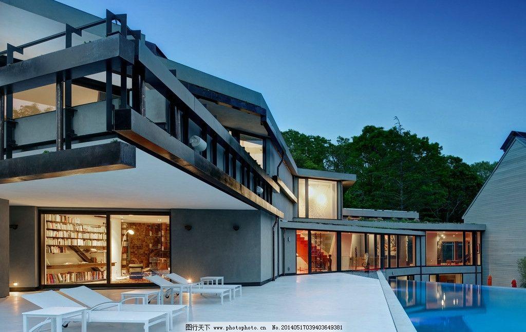 别墅 豪宅 建筑 房子 房产 游泳池 躺椅 设计 豪华 花园洋房 复式