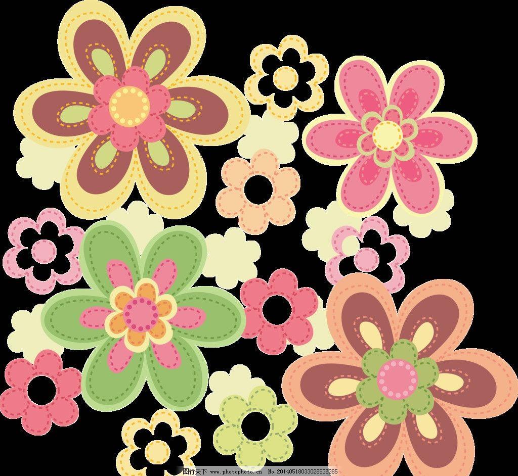 韩式花纹 花纹花边 韩式      素材 psd 花 手绘鲜花 布纹 装饰花纹 p