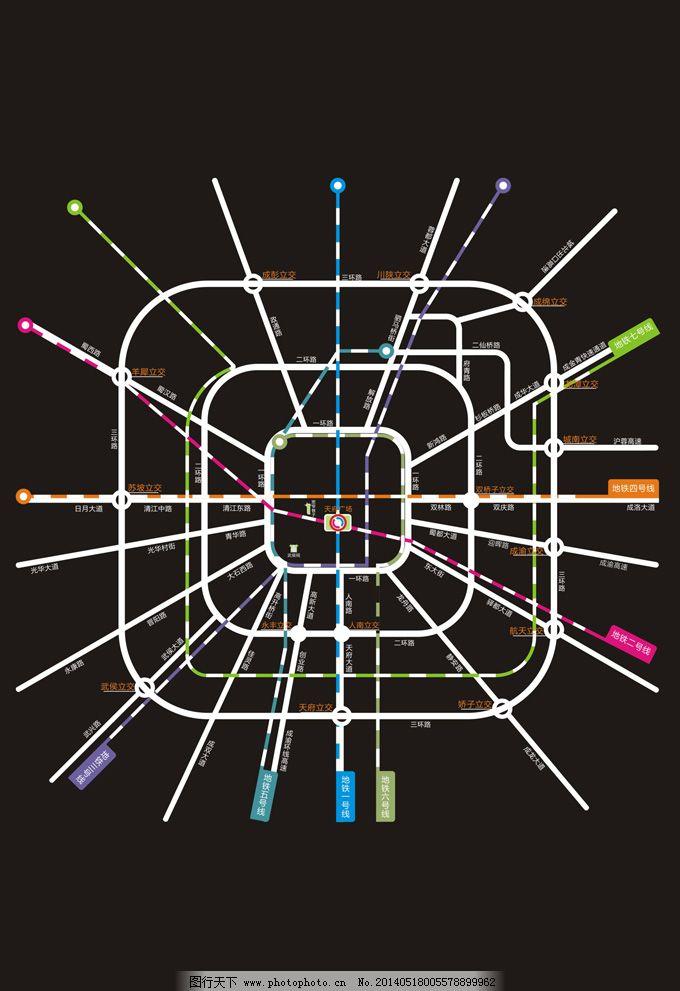 成都地铁路线图 成都地铁路线图免费下载 地图 矢量图 其他矢量图